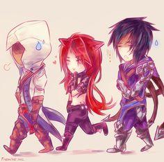Kat and Talon meet Connor! LOL & LoL meets Assasin's Creed 3.    League of Legends