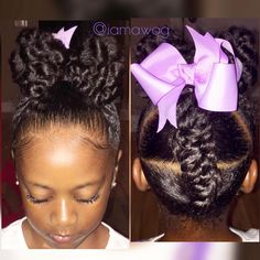 20 Cute Natural Hairstyles for Little Girls From pony puffs to decked out cornrow designs to braided styles, natural hairstyles for little girls can be the cutest added bonus to their precious little faces. Little Girl Braids, Braids For Kids, Girls Braids, Little Girls Natural Hairstyles, Lil Girl Hairstyles, Black Hairstyles, Children Hairstyles, Toddler Hairstyles, Stylish Hairstyles