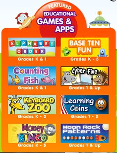 ABCya! Tons of FREE educational computer games for children :) Just click on the grade level...