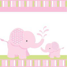 Elefante rosa bebé ducha o cumpleaños