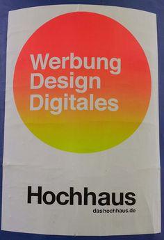 #Plakat von dashochhaus.de an #Litfaßsäule