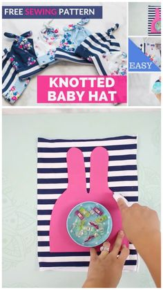 Learn how to sew an adorable baby top knot hat the EASY way with this sewing tutorial complete with a free sewing pattern, step-by-step photos, and a video! to knit a hat for beginners step by step free pattern Double Top Knot Baby Hat Free Sewing Pattern Hat Patterns To Sew, Baby Clothes Patterns, Sewing Patterns Free, Free Sewing, Sewing Tips, Sewing Hacks, Pattern Sewing, Clothing Patterns, Top Pattern