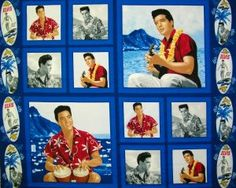 Check out this item in my Etsy shop https://www.etsy.com/listing/488403588/elvis-presley-panel-blue-hawaiin-surf