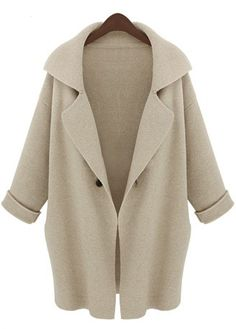 Long Sleeve Loose Trench Coat