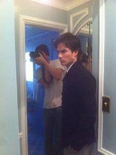Behind the scenes..... @iansomerhalder in #ContentMode shoot! on Twitpic