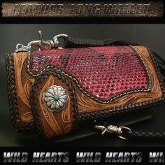 WILD HEARTS: Genuine Leather Biker Wallet Python !  http://item.rakuten.co.jp/auc-wildhearts/lw1144/