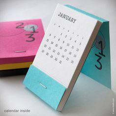 Inkello Letterpress — 2013 Matchbook Calendar {#107}