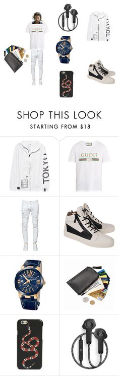 """""""by Alijah"""" by explorer-15146614294 ❤ liked on Polyvore featuring UEG, Gucci, Dsquared2, Giuseppe Zanotti, Ulysse Nardin, B&O Play, men's fashion and menswear"""