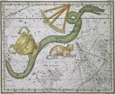 Hydra, from 'A Celestial Atlas', pub. in 1822 Wall Art & Canvas Prints by A. Jamieson