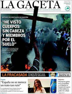 Los Titulares y Portadas de Noticias Destacadas Españolas del 23 de Septiembre de 2013 del Diario La Gaceta de los Negocios ¿Que le pareció esta Portada de este Diario Español?