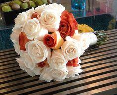Bridal Bouquet. Ivory Roses. Cinnamon Roses.  Weddings. Birthdays, Anniversaries. Terra Flowers Miami. For more styles, please visit www.TerraFlowersMiami.com or www.facebook.com/terraflowersmiami