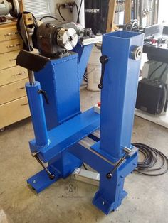 "Specs: 54"" Swing 18"" Between Centers ~1300 pounds 2 hp 3 phase motor. VFD controlled - Shop Built Bowl Lathe - by woodshopmike @ LumberJocks.com ~ woodworking community"