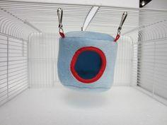 Blue Hammocks Hanging Bed House for Rat Bird Hamster Ferrets Parrot Mouse Toy