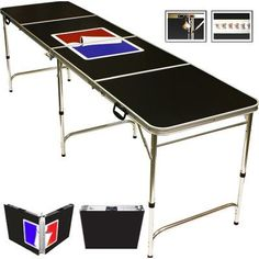 Red Cup Pong Sports Official Beer Pong Table in Standard Aluminum