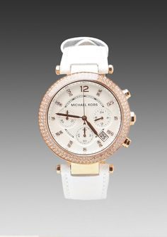 White Rose Gold Watch - Lyst - $225