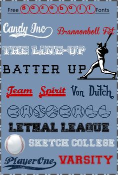 Blogging Basics:  Free Baseball Fonts