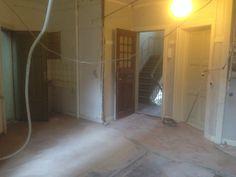 Væg er revet ned til køkkenalrum