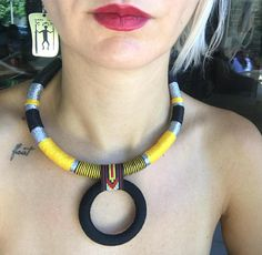 Tribal Choker, Rope Necklace, Statement Necklace, Choker necklace, Boho Choker, African Necklace, African Jewelry, Gif For Her, Necklaces