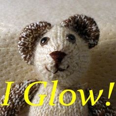 Glow in the dark bear doll handspun from Shetland by sheepshape, $40.00