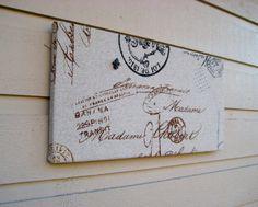 French Bulletin Board Paris script office memo by jensdreamdecor, $20.50