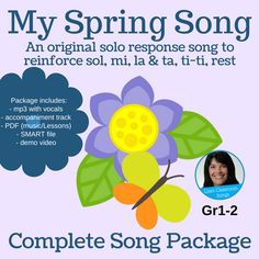 This is a fun way to assess singing abilities! (Song Length: 1:30) This package includes a PDF with sheet music and lesson ideas, a recording with vocals, an accompaniment track, a SMART Notebook file and a demonstration video.