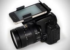Flash Dock attaches iPhone to DSLR, raises cameras IQ im not sure what the deal is but lets face it that Camera Software sucks. i wish i could run my DSLR thru apps on my iPhone Photography Accessories, Photography Lessons, Photography Camera, Iphone Photography, Photography Tutorials, Digital Photography, Photography Hashtags, Photography Backdrops, Portrait Photography
