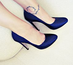 navy satin platform pumps+ferragamo heels | Flickr - Photo Sharing!