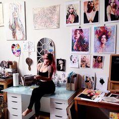 Inside the studio of Charmaine Olivia
