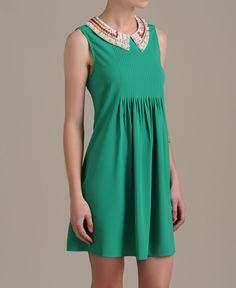 Beaded Collar Dress