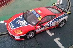 #Ferrari 360 Módena GTC Escudería Ecosse de Scalextric. Mi post sobre este modelo en el blog #Slot México