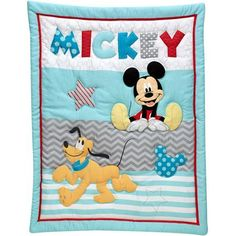 Disney Let's Go Mickey Mouse 3-Piece Crib Bedding Set