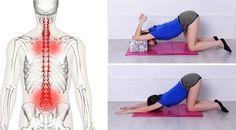 8 ćwiczeń rozciągających, które zmniejszą ból pleców w zaledwie 10 minut! #fitness #poland #ciekawostki #zdrowie #ćwiczenia #health #kobieta Back Exercises, Pilates, Yoga, Sports, Health, Stretching, Madonna, Chakra, Glow