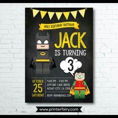 Lego Batman super cute invites