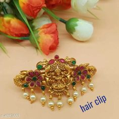 Hair Accessories Trendy Hair Clip For Women Material: Alloy Size: Free Size Description: It Has 1 Piece Hair Clip For Women  Work: Stone & Beads Country of Origin: India Sizes Available: Free Size   Catalog Rating: ★4 (2566)  Catalog Name: Trendy Hair Clip For Women Vol 12 CatalogID_659853 C72-SC1088 Code: 761-4557883-