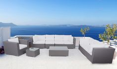 Introduce a tropical resort vibe into your backyard or patio with the Velago Maxima Wicker 7 Piece Patio Conversation Set . Outdoor Sofa Sets, Outdoor Lounge, Outdoor Decor, Contemporary Outdoor Sofas, Contemporary Style, Luxury Garden Furniture, Patio Seating, Outdoor Settings, Conversation