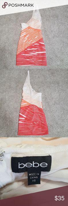 Bebe one shoulder dress Great condition, size xs bebe Dresses One Shoulder