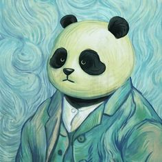 Este artista chino recreo las pinturas famosas con pandas