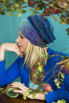 Ravelry: Leaf Band Hat pattern by Cheryl Murray  I made this hat in Noro Kuryeon and it's awesome, lots of compliments and a fun knit.