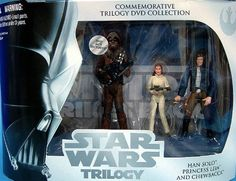 Star Wars Commemorative Trilogy DVD Collection: Empire Strikes Back (Chewbacca, Princess Leia, Han Solo) by Hasbro. $18.48. Han Solo. Includes:. Store exclusive released in 2004. Princess Leia. Chewbacca. Action firgure 3 pack released in 2004 to commemorate the DVD release of the original Star Wars Trilogy.