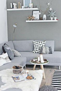 Novel Small Living Room Design and Decor Ideas that Aren't Cramped - Di Home Design Living Room Grey, Home Living Room, Living Room Decor, Living Spaces, Small Living, Modern Living, Scandi Living, Nordic Living Room, Modern Room