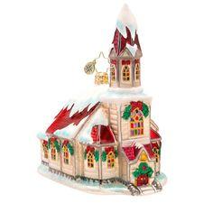 "Christopher Radko Church Ornament - ""Ruby Roof Chapel"""