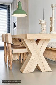 Ideas Natural Wood Table Design Modern For 2019 Wooden Furniture, Cool Furniture, Furniture Design, Furniture Ideas, Wooden Chairs, Furniture Dolly, Wooden Decor, Furniture Outlet, Kitchen Furniture