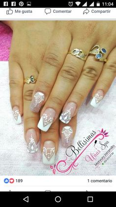 Henna Nails, Lace Nails, Flower Nails, Gel Nails, Bride Nails, Wedding Nails, Fabulous Nails, Gorgeous Nails, Mandala Nails