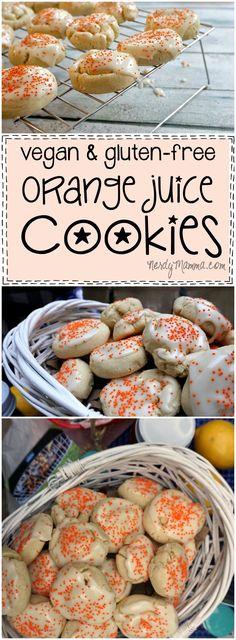 Vegan & Gluten-Free Orange Juice Cookies