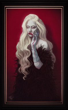 Here's the portrait of Lady Gaga as The Countess of American Horror Story: Hotel. I love the dark aesthetic of her last photoshoot for Entertainment Weekly, so I decided to make an illustration abo...