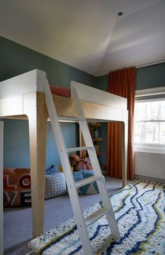 Beautiful kids room designed by London based Born & Bred Studio. This studio has become know as a go to studio for the coolest kids rooms. Cool Kids Rooms, Dreams Beds, Making Space, Kids Bunk Beds, Kids Room Design, Interior Design Companies, Coloring For Kids, Beautiful Children, Interior Design Inspiration