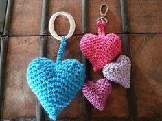 Corazones en 3D - Al Crochet