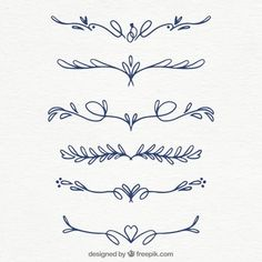 Hand drawn collection of wedding ornaments Free Vector Bullet Journal Ideas Pages, Bullet Journal Inspiration, Doodle Drawings, Doodle Art, Figure Drawing Reference, Pose Reference, Free Hand Drawing, Lettering Tutorial, Plant Illustration