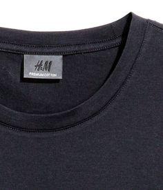 Camiseta en algodón premium | Azul oscuro | Hombre | H&M CL
