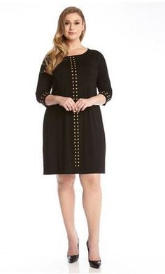 Z.Bella Boutique - Studded Dress by Karen Kane. #PlusSizeFashion